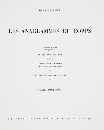 Libro Ilustrado Bellmer - Les Anagrammes du corps