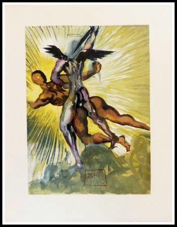 Grabado En Madera Dali - Les anges gardiens de la vallée