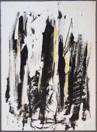 Litografía Mitchell - Les arbres en jaune