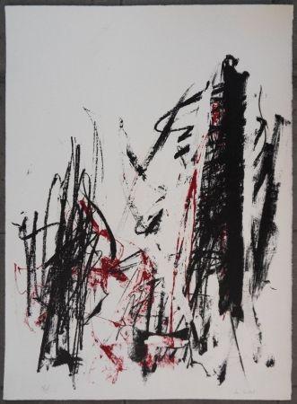 Litografía Mitchell - Les arbres en rouge