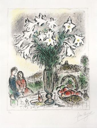 Litografía Chagall - Les Arums