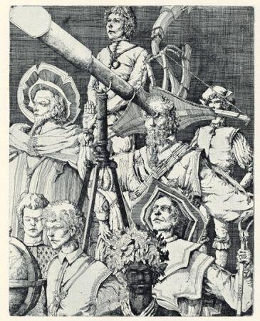 Grabado Desmazières - Les Astronomes