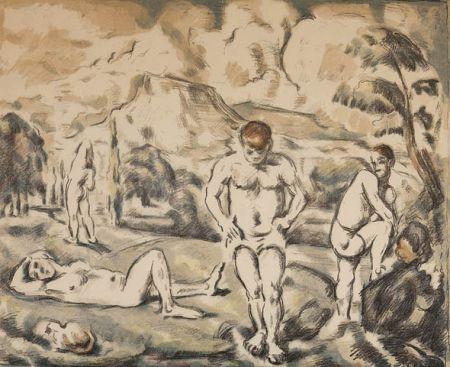 Litografía Cezanne - Les baigneurs / The Bathers
