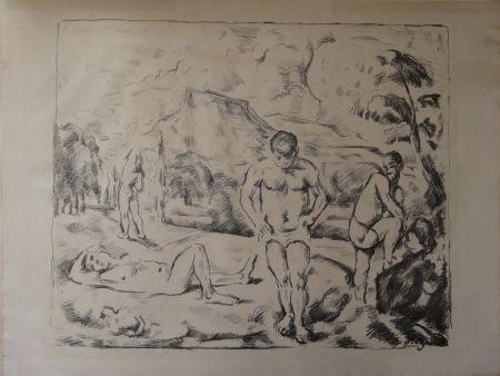Litografía Cezanne - Les Baigneurs / The Bathers (Large plate)