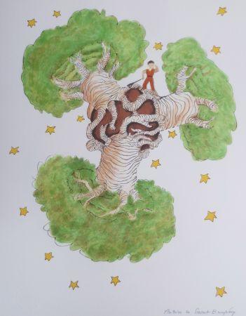Litografía Saint-Exupéry - Les Baobabs