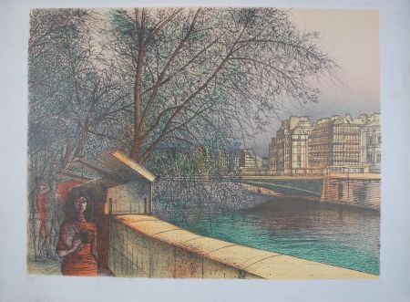 Litografía Carzou - Les bouquinistes II