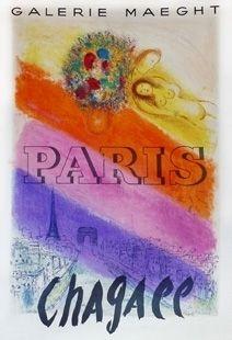 Cartel Chagall - Les Champs Elysées