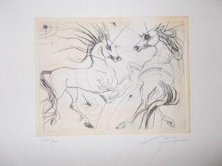 Litografía Guiny - Les chevaux de Jupiter