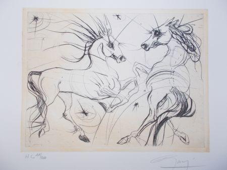 Grabado Guiny - Les chevaux de Jupiter