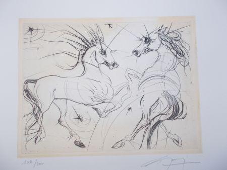 Grabado Guiny - Les chevaux du printemps