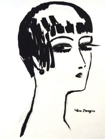 Litografía Van Dongen - Les Cheveux Courts