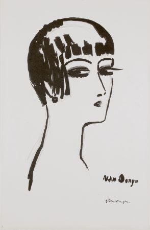 Litografía Van Dongen - Les Cheveux Courts, 1th State