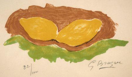 Litografía Braque - Les citrons