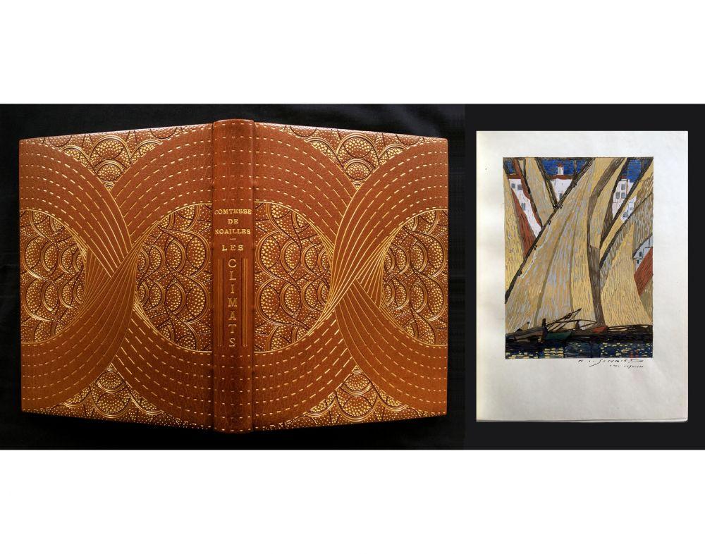 Libro Ilustrado Schmied - LES CLIMATS. L'exemplaire de F.-L. Schmied avec gouaches originales, suites signées dans une reliure de Cretté.