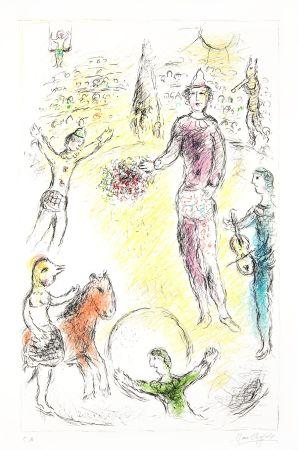 Litografía Chagall -  Les Clowns Musiciens (Musical Clowns)