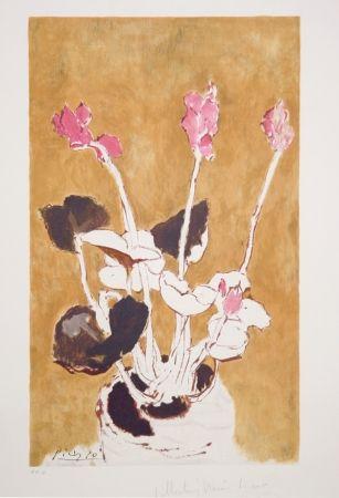 Litografía Picasso - Les Cyclamens, 22-E