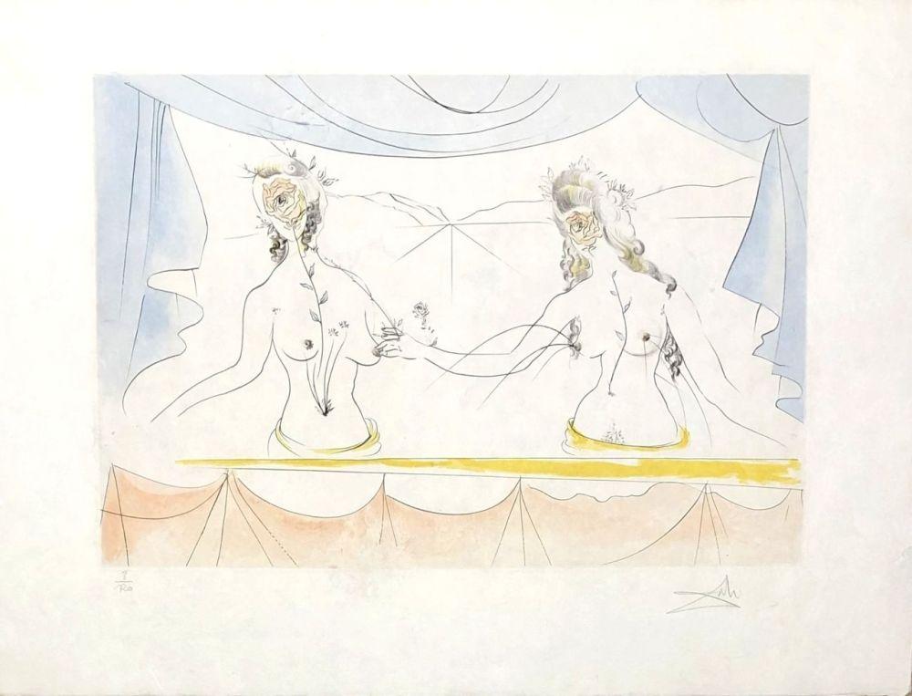 Grabado Dali - Les dames de la renaissance