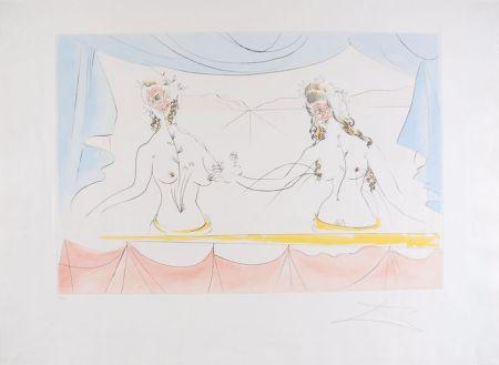 Aguafuerte Dali - Les Dames de la Renaissance - Ladies of the Renaissance (suite Mythologique Nouvelle/New Mythological)