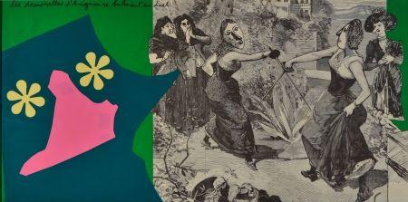 Litografía Baj - Les Demoiselles D'Avignon
