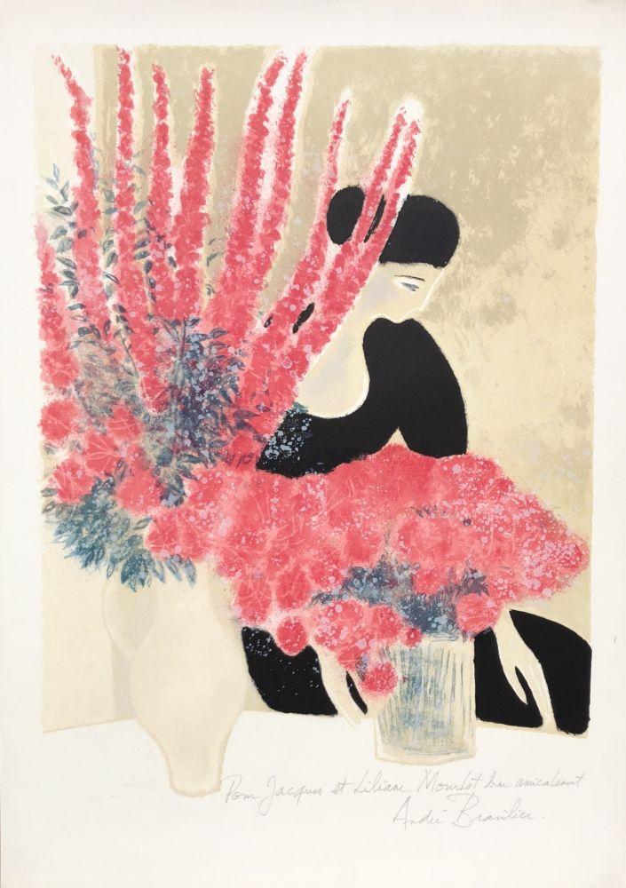 Litografía Brasilier - Les Deux Bouquets