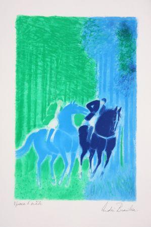 Litografía Brasilier - Les Deux Cavaliers