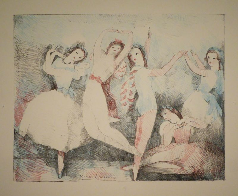 Litografía Laurencin - Les fêtes de la danse