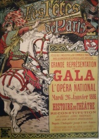 Litografía Grasset - Les Fêtes de Paris