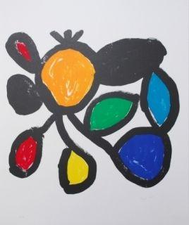 Litografía Ionesco - Les fleurs