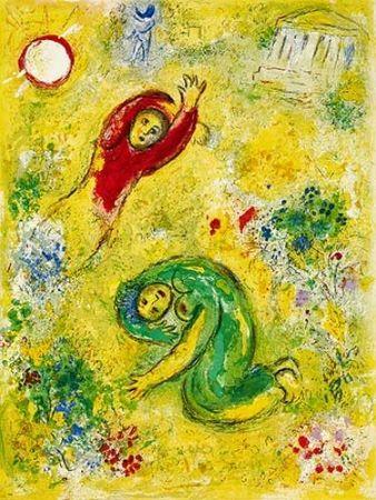 Litografía Chagall - Les Fleurs Saccagées