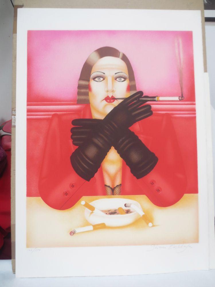 Litografía Okshteyn - Les gants noirs