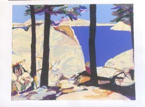 Litografía Godard - Les grands arbres