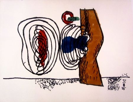 Litografía Le Corbusier - Les Huit
