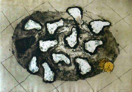 Grabado Barcelo - Les huitres