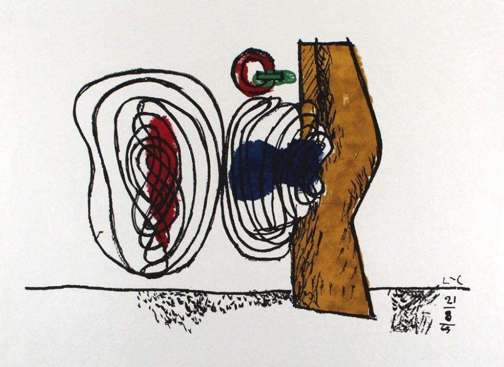 Litografía Le Corbusier - Les huits
