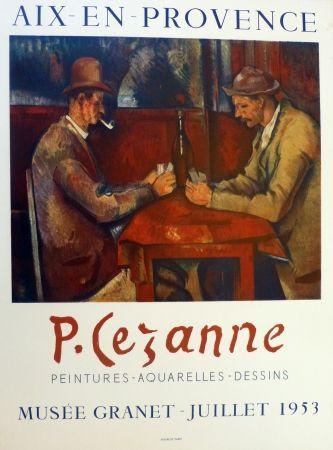 Litografía Cezanne - Les joueurs de carte