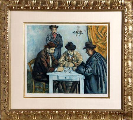 Aguatinta Villon - Les Joueurs des Cartes (The Card Players) after Cezanne