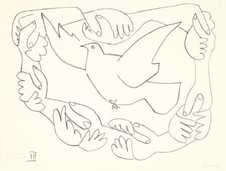 Litografía Picasso - Les mains liées III