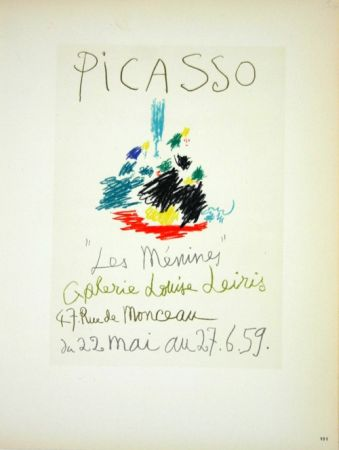 Litografía Picasso (After) - Les  Menines