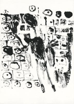 Litografía Dubuffet - Les murs