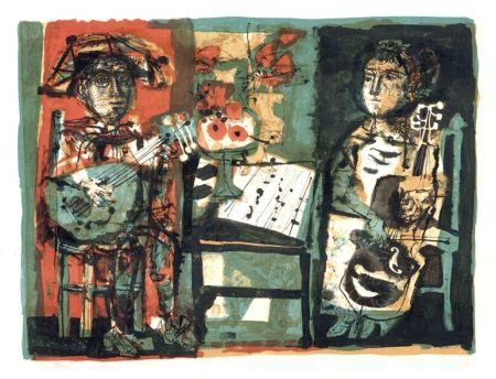 Litografía Clavé - Les musiciens