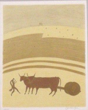 Litografía Boncompain - Les nourritures terrestres