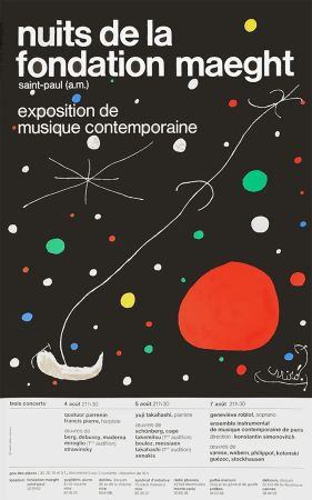 Litografía Miró - LES NUITS DE LA FONDATION MAEGHT (1967).