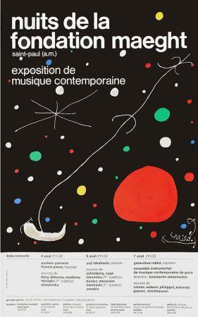 Cartel Miró - LES NUITS DE LA FONDATION MAEGHT (1967). Affiche originale
