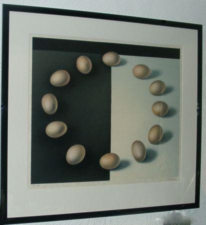 Litografía Rohner - Les Oeufs