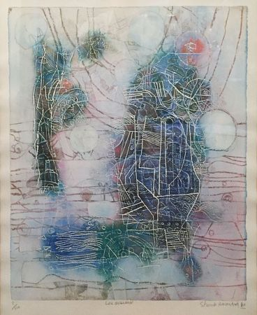 Litografía Hasegawa - «Les Oiseaux»