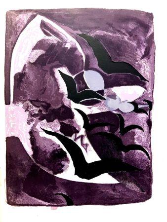 Litografía Braque - Les Oiseaux de Nuit