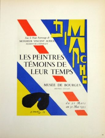Litografía Matisse - Les Peintres Témoins de Leur Tepls