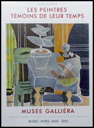 Litografía Braque - LES PEINTRES TEMOINS DE LEUR TEMPS
