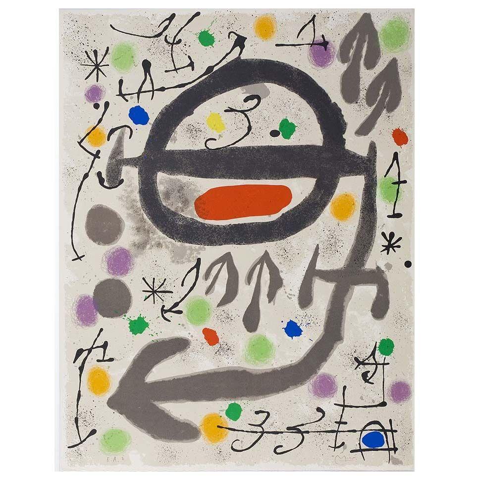 Litografía Miró - Les Perseides: Plate 2
