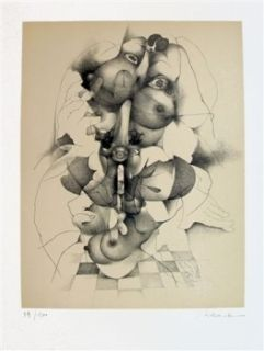 Litografía Daboval - Les phantasmes de Berthe 3